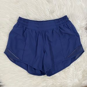 "RARE Lululemon Hotty Hot short 4""- Moody Blue"